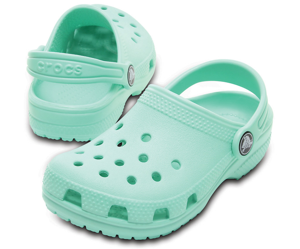 0047d12f1b20e8 Crocs Schuhe Kinder new mint