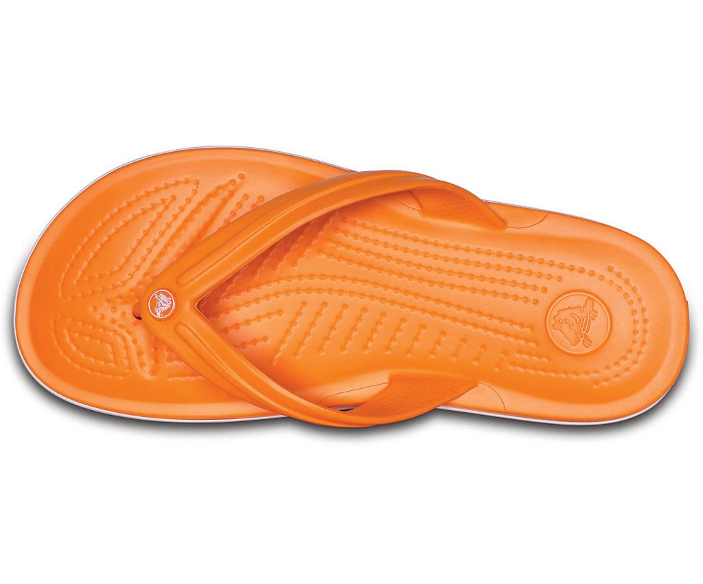 Crocs Schuhe blazing orange white